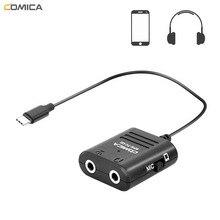 COMICA SPX TC multi fonctionnel TRS TRRS 3.5mm Microphone à USB type C câble Audio adaptateur pour Huawei Samsung HTC Smartphones