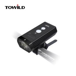 Новый велосипедный светильник TOWILD BR1800/BR1200, внешний аккумулятор, водонепроницаемый, USB, перезаряжаемый, с аксессуарами для велосипеда