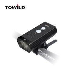 Новый TOWILD BR1800 / BR1200 велосипедный фонарь, внешний аккумулятор, водонепроницаемый, USB, перезаряжаемый, Велосипедный свет с велосипедными аксес...