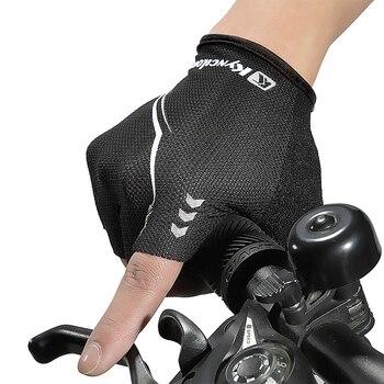 Women Cycling Bike Half Finger Gloves Shockproof Breathable Elastic Bicycle Gloves Road Mountain Bike MTB Gloves for Boys Girls rockbros cycling bike half finger gloves shockproof breathable mtb mountain bicycle gloves men women sports cycling clothings