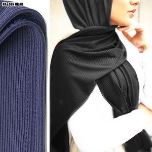 Image 3 - Premium Rippen Jersey schal hohe qualität winter frauen muslimischen stretchy hijabs