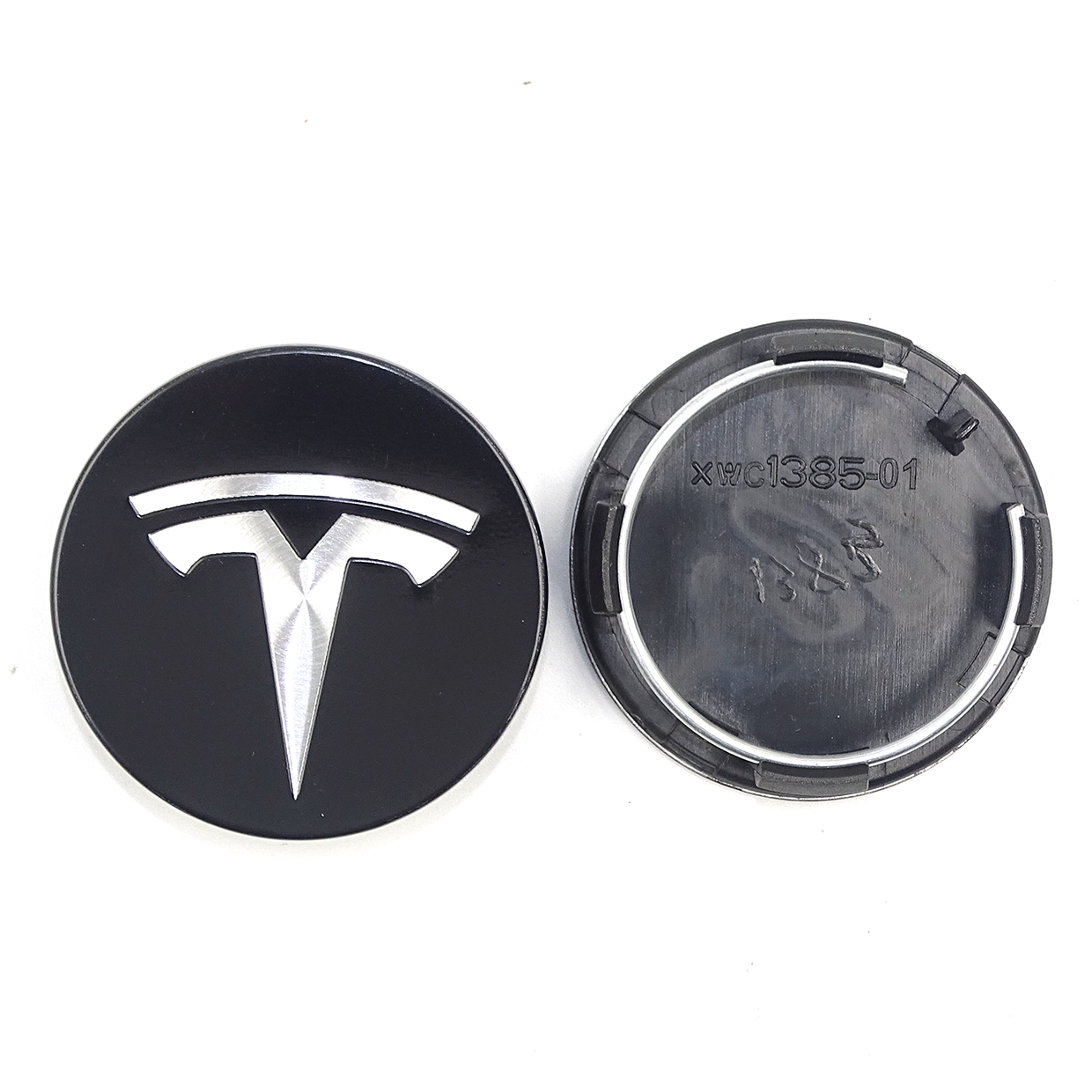 Image 2 - for TESLA MODEL X S 3 car styling XWC1385 01 Auto Accessories 56MM 58MM Badge Wheel Center cap cover emblem-in Wheel Center Caps from Automobiles & Motorcycles