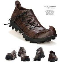 עור אמיתי גברים נעליים מזדמנים קלאסי סירת נעליים בעבודת יד נעלי נהיגה נוח סניקרס קרסול מגפי ופרס גברים mocassin