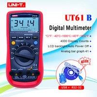 UT61B UNI T cyfrowy multimetr Auto zakres RS232 USB PC oprogramowanie Data Hold temperatura automatyczne wyłączanie najlepsza dokładność 1% Multimetro w Mierniki wielofunk. od Narzędzia na