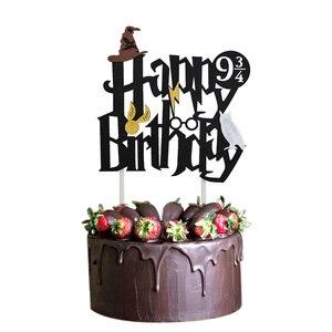 Image 2 - 漫画の誕生日バナーハッピーバースデーラテックス風船ケーキトッパーの誕生日パーティーの装飾ホオジロ子供好意
