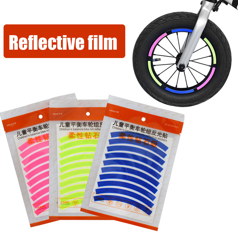 Reflective <font><b>Sticker</b></font> 10pcs Toys Bicycle Reflective Paste 3 Colors Entertainment <font><b>Scooter</b></font> <font><b>Sticker</b></font> Protect Children Parts Case Cover image