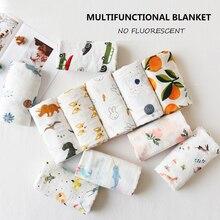 цена 70% Bamboo Muslin Squares Baby Blanket Cotton Muslin Swaddle Baby Multi-use Big Diaper For Newborns Blanket Infant 2 Layers Wrap онлайн в 2017 году