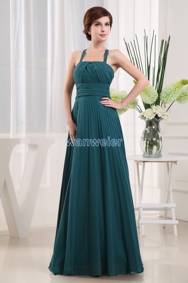 Free Shipping 2016 Plus Size Floor Length Green Chiffon Formal Brides Maid Dress Maxi Dress Long Mother Of The Bride Dresses