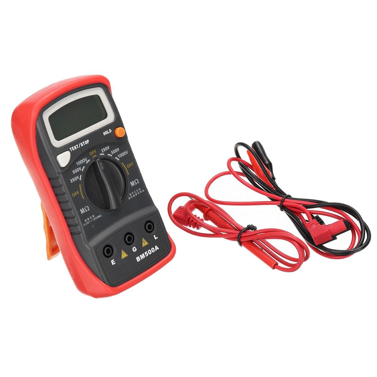 1000V BM500A Handheld Digital LCD Resistance Tester High Accuracy Insulation Resistance Testing Meter Megohmmeter Megger