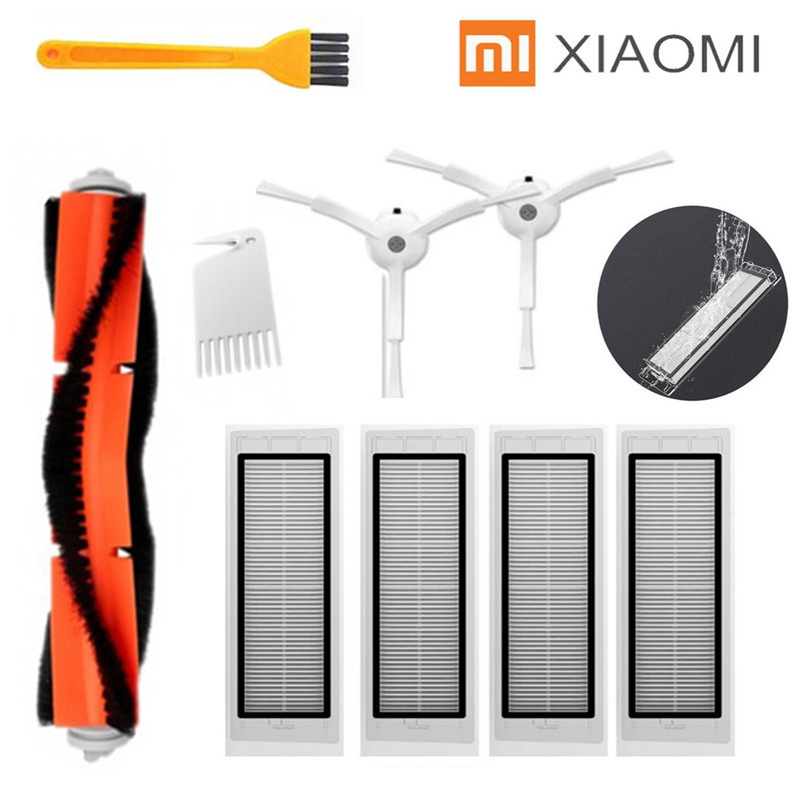 1* Main Brush + 4* HEPA Filter + 2 * Side Brush Suitable For Xiaomi Vacuum 2 Roborock S50 S51 Xiaomi Roborock Xiaomi Mi Robot