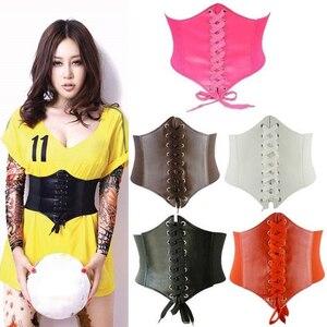 2020 Corset Wide Belts Pu Leather Slimming Body Belts for women Elastic Waist Belts cinto sobretudo feminin ceinture femme fajas