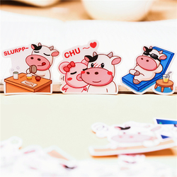 40 Pcs Funny cow Stickers Daily life for Fashion Laptop Snowboard Home Decor Car Styling Decal Fridge Doodle Kid Toy Sticker