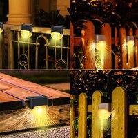 16/8/4pcs outdoor led solar lamp solar step lights waterproof path stair wall light garden landscape step deck solar lights