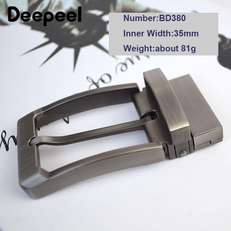 Mens Solid Belt Buckles 35mm40mm Reversible Pin Buckle For Men  Belt Leather DIY Accessories Brushed Metal Belt Buckle