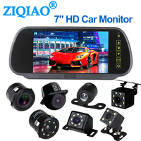 Parking system reversing. 7 inch TFT LCD screen. Car monitor. Rear view mirror. Night vision.