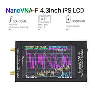Analizador de antenas nanovna-f VNA SWR Meter VHF UHF + 4,3 IPS LCD + analizador de red vectorial de caja metálica 50KHz-1000MHz