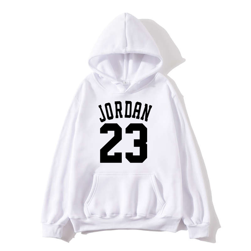 Fashion Color Hooides Woman Thick Clothes Winter Sweatshirts Hip Hop Streetwear JORDAN 23 Fleece Hoody Women Clothing
