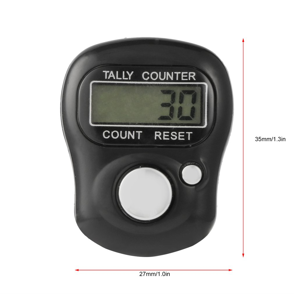 Купить с кэшбэком Digital Finger Tally Counter Mini 5-Digit LCD Finger Clicker Golf Sports Hand Held Ring Electronic Tally Counter Counting Tool