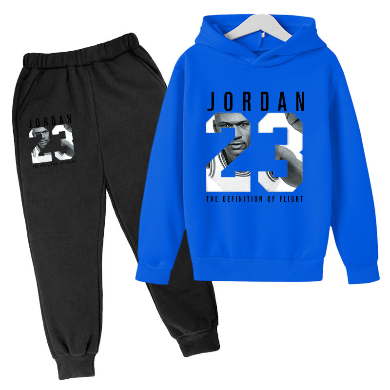 2021 New Autumn Spring Children Boys Girls Clothing basketball cotton printing Clothes Kids Sport Suits Hoodies +Pant 2 pcs