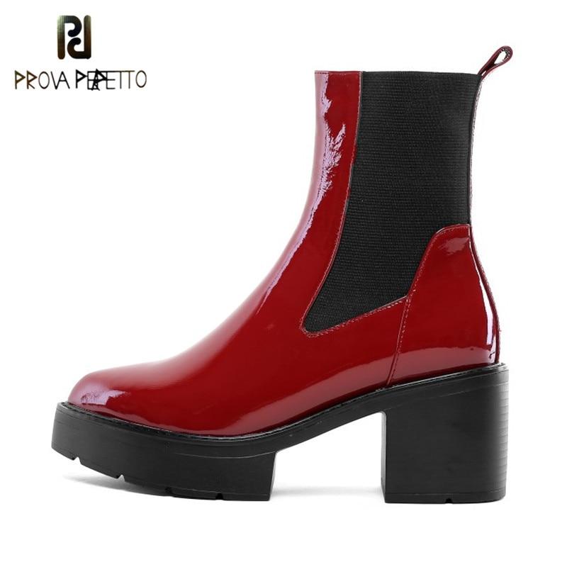 Las Mujeres Botas De Moda Botines De Tac/óN Grueso Tacones Altos Zapatos De Plataforma Flock