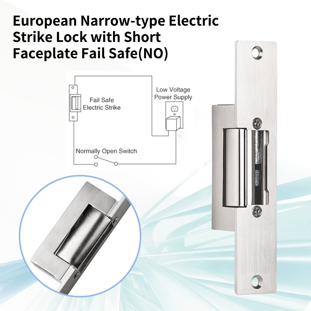 cheapest TMEZON Electric Strike Lock Narrow Type Electric Door Lock for Home Office Wood Metal Door NO Mode Fail Secure DC 12V Access
