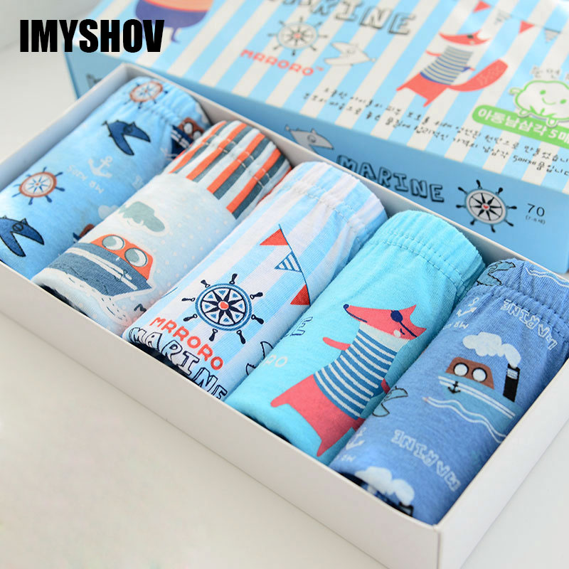 5Pcs Lot Cotton Teenage Boys Underwear Kids Panties For Boy Briefs Cartoon Baby Calcinha Infantil Children Toddler Underpants