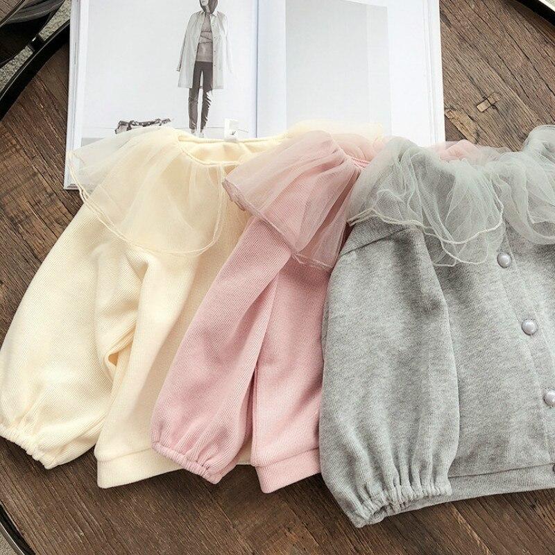 2021 Autumn New Arrival Girls Long Sleeve Coat Kids Korean Design Cardigans  Girl Coat 1