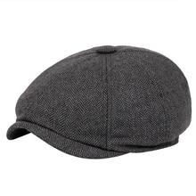 Boina vintage de hombre con espiga Gatsby Tweed peaky blinders sombrero de boina de Newsboy sombrero de boina de primavera