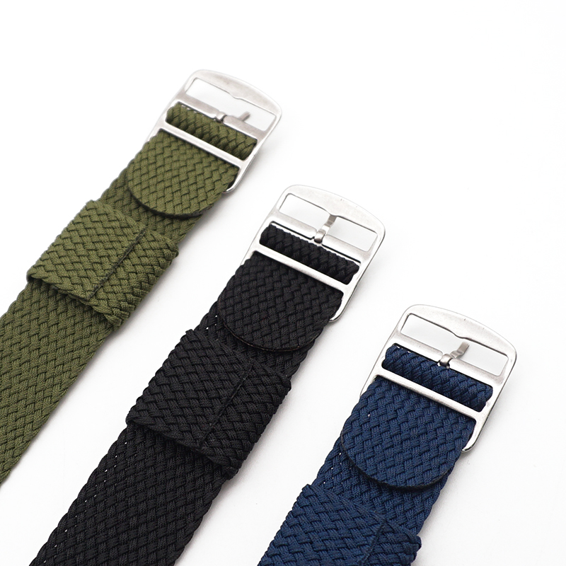 High Quality Fashion Men And Women 20mm 22mm NATO Nylon WATCHBAND Navy Waterproof Nylon For Perlon Watch Band in Watchbands from Watches