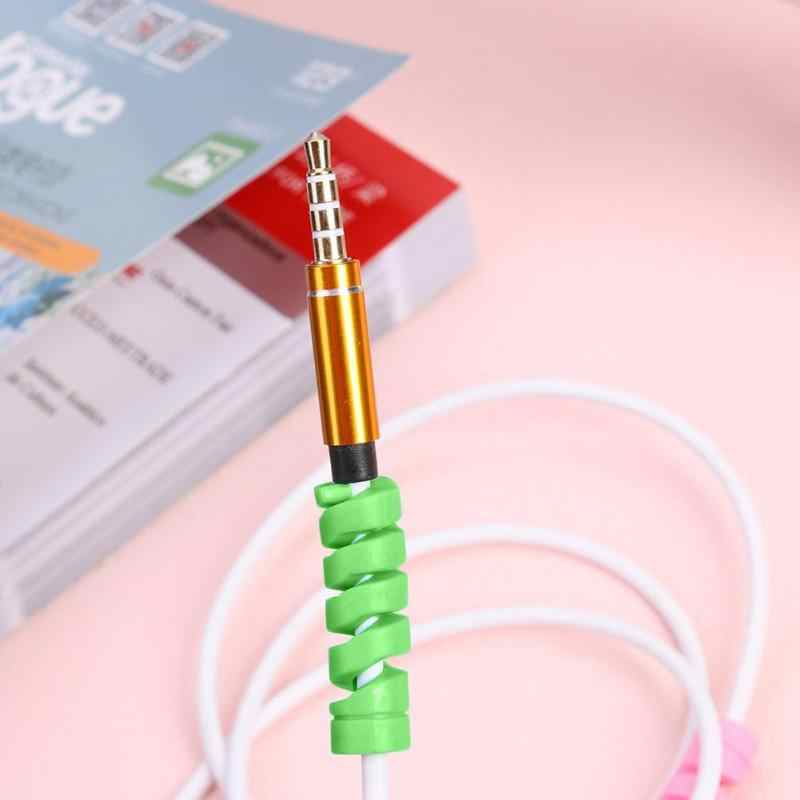 1PC câble de charge protecteur économiseur couverture pour iPhone Android USB chargeur câble cordon manchon spirale de protection 35*10mm