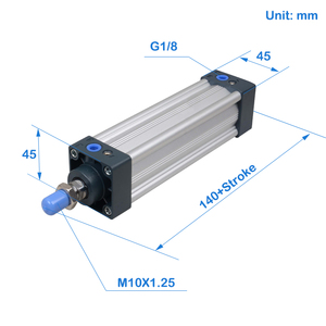 Image 3 - SU32  Series Bore 32 stroke 25 1000 Air Cylinders Double Acting Single Rod  pneumatic cylinder price SU series cylinder SU32X100