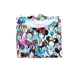 Image 5 - فساتين للفتيات الصغيرات لربيع وصيف 2020 بتصميم جديد فستان بنمط رأس ميكي ملون للأطفال ملابس رفرفة ميلك سيلك