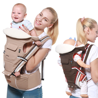Puseky Ergonomic Baby Carrier Infant Kid Baby Hipseat Sling Front Facing Kangaroo Baby Wrap Carrier for Baby Travel 0 36 Months