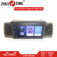 ZHUIHENG 2 din Car radio for Toyota Corolla E120 Corolla EX BYD F3 car dvd player car accessory of autoradio 4G internet 2G 32G