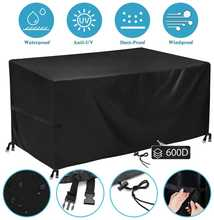 Oxford Fabric 600D Furniture Dustproof Cover For Rattan Table Cube Chair Sofa Waterproof Rain Garden Patio Protective Cover Sale