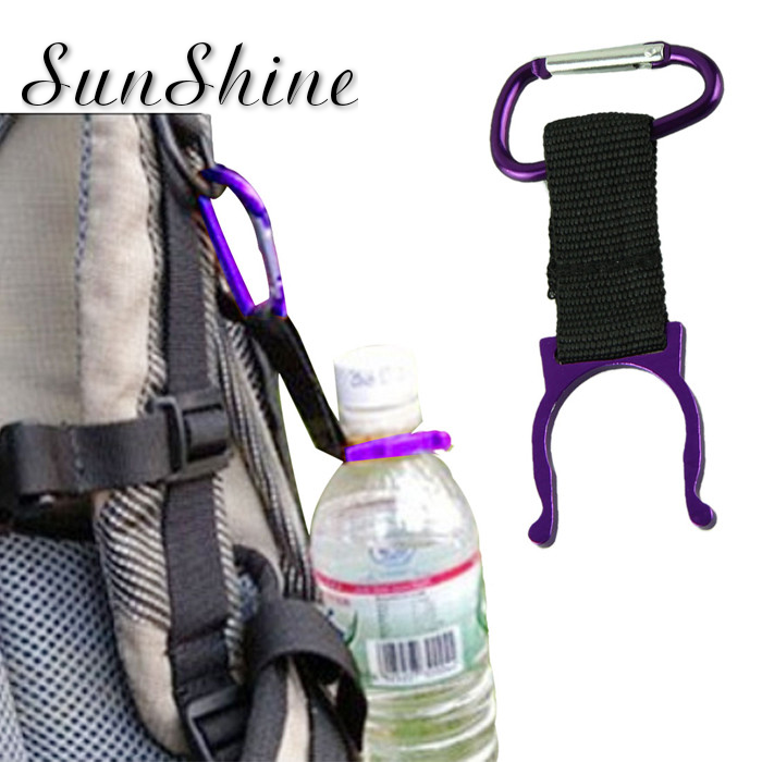 High Quality Safety Buckle Camping Carabiner Water Bottle Buckle Hook Holder Clip For Camping Hiking Survival Traveling Tools