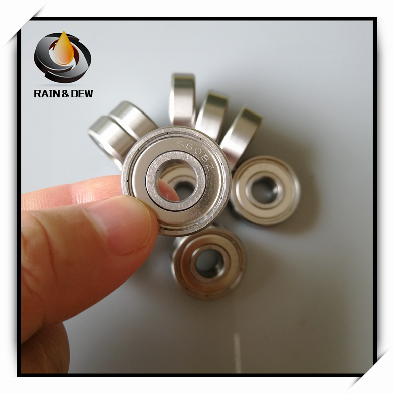 10Pcs 8X22X7 Ball Bearing S608ZZ ABEC-9 608 Stainless Skateboard Bearing Stainless Steel Skate Bearing image