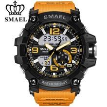SMAEL – Montre bracelet pour homme, modèle SL-1617-17, étanche à 50 m, Quartz, horloge numérique de sport, écran LED digital