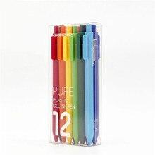 Kaco assinar caneta 0.5mm mijia abs caneta de plástico escrever comprimento 400 m para o trabalho e estudar escova colorida como crianças presente 12 cores