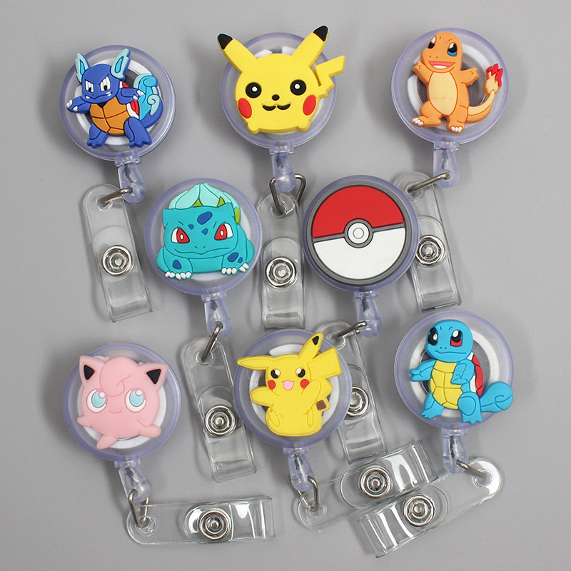 Cartoon Game Boy Ball Elves Retractable Badge Holder Reel Exhibition Enfermera Student Boys Name Card Hospital Office Chest Card