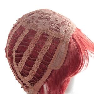 "Image 5 - L דוא""ל פאה LOL KDA Akali קוספליי פאות משחק מהדורת היוקרה K/DA פאת קוספליי סגול קוקו חום עמיד סינטטי שיער"