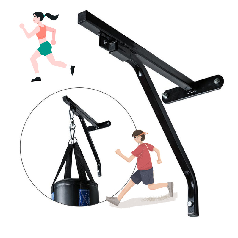 Heavy Punch Bag Wall Bracket Steel Mount Hanging Stand Wall Mount Boxing Frame Punching Bag Stand Hanger For Fitness Training