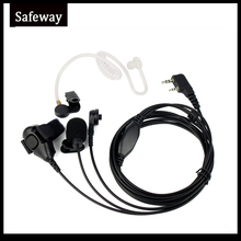 3 Wire Two Way Radio Surveillance Kit Earpiece Acoustic Tube Earphone MIC Headset For Kenwood For Baofeng UV 5R