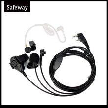 3ワイヤー双方向ラジオ監視キット音響管イヤホンマイクヘッドセットケンウッドbaofeng UV 5R