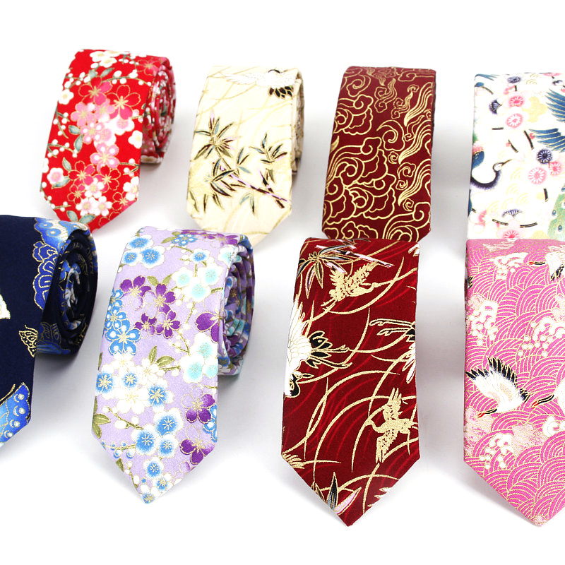 Floral Ties Brand For Men Causal Suit Cotton Tie 6cm Width Gravata Fashion Male Printed Bow Neck Ties Wedding Corbata Neckties