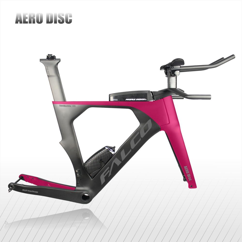 FALCO Carbon TT Bicycle Frame Time Trial DIsc Triathlon Bike Frame Set With TT Handlebar