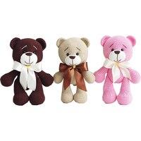 2019 Cute handmade teddy bear doll crochet toy gift, bear baby knit doll best birthday gift (finished, non DIY)