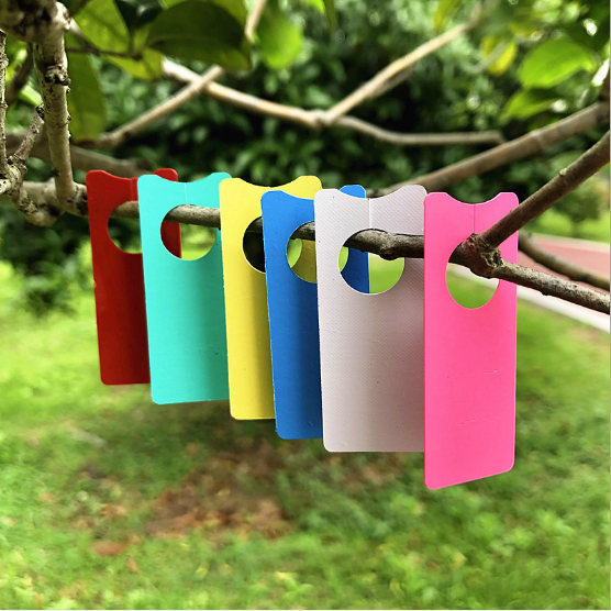 100PCS High Quality Plastic Plants Tags Nursery Garden Ring Label Pot Marker Stake Hanging Tags Greenhouse Bonsai Collar Tags