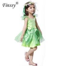 Folha verde fada elfos cosplay traje para meninas traje de halloween para crianças desempenho vestuário vestido de festa com grinalda