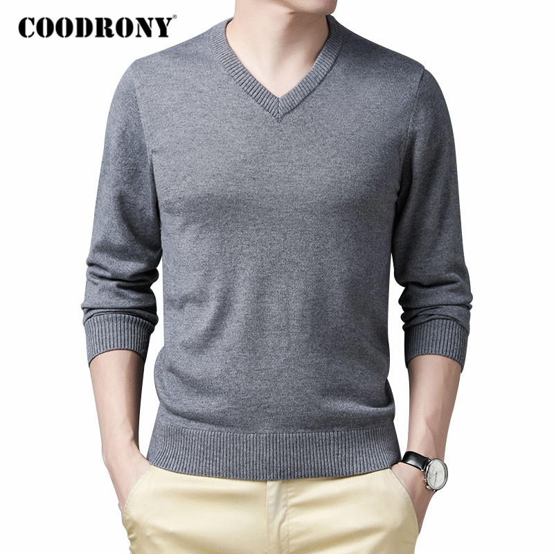 COODRONY Brand Sweater Men Clothing 2020 Autumn Winter Knitwear Woolen Warm Pullover Men Business Casual V-Neck Pull Homme C1150